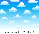 group of vector clouds on a... | Shutterstock .eps vector #82530541
