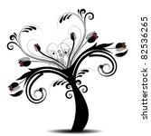beautiful art tree isolated on... | Shutterstock .eps vector #82536265