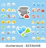 weather icon set | Shutterstock .eps vector #82536448