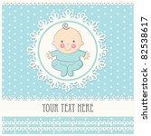 baby boy announcement card.... | Shutterstock .eps vector #82538617