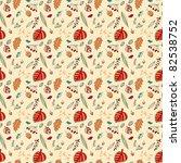 autumn leaf seamless pattern | Shutterstock .eps vector #82538752