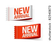 new arrival labels. vector. | Shutterstock .eps vector #82540873