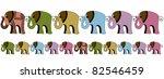 elephants | Shutterstock .eps vector #82546459