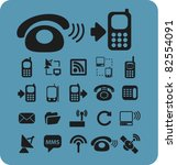 phone icons  signs  vector... | Shutterstock .eps vector #82554091