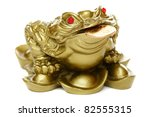 Feng Shui Frog Sitting On Mone...