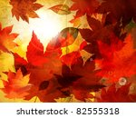 beautiful autumn background for ...   Shutterstock .eps vector #82555318