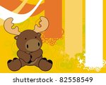 reindeer baby cartoon sit... | Shutterstock .eps vector #82558549