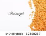 orange lentil beans on white... | Shutterstock . vector #82568287