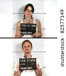 male and female criminal mug... | Shutterstock . vector #82577149