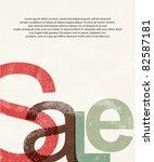 sale. design print background | Shutterstock .eps vector #82587181