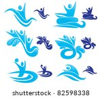 vector collection of aqua park...   Shutterstock .eps vector #82598338