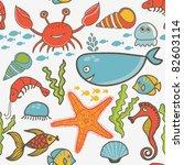 marine seamless pattern ... | Shutterstock .eps vector #82603114