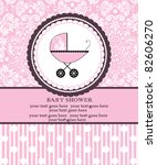 baby shower announcement   Shutterstock .eps vector #82606270