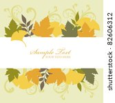 ginkgo background frame   Shutterstock .eps vector #82606312