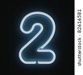neon font number two | Shutterstock . vector #82616581