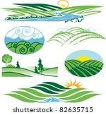 rolling green hills   Shutterstock .eps vector #82635715
