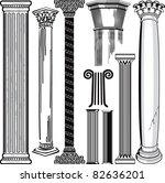 column collection | Shutterstock .eps vector #82636201
