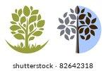 Stock vector vector tree emblem 82642318