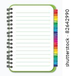 notebook with colorful bookmark | Shutterstock .eps vector #82642990