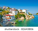 the old part of town in island... | Shutterstock . vector #82643806
