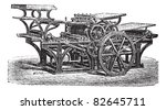 marinoni  double printing press ... | Shutterstock .eps vector #82645711