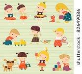 child's background | Shutterstock .eps vector #82649086