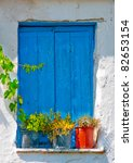 Blue Colored Window From  An...