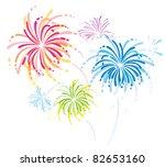 colorful fireworks | Shutterstock .eps vector #82653160