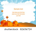 halloween background with... | Shutterstock .eps vector #82656724