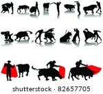vector collection of matador