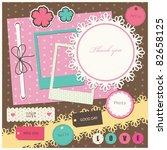 cute elements for scrap booking.... | Shutterstock .eps vector #82658125