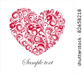 Red Valentine Heart In Floral...