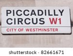 Piccadilly Circus Street Sign ...