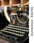 old typewriter | Shutterstock . vector #826706