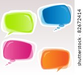 eps 8 vector speech bubbles. | Shutterstock .eps vector #82672414