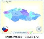 czech republic map with flag... | Shutterstock .eps vector #82683172