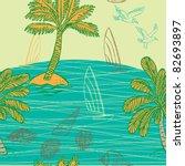 sunny beach   Shutterstock .eps vector #82693897