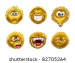fluffy smiles emotion faces on... | Shutterstock .eps vector #82705264