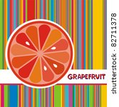 vector illustration. grapefruit | Shutterstock .eps vector #82711378