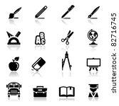 icons set school | Shutterstock .eps vector #82716745