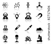 icons set science and research | Shutterstock .eps vector #82717606