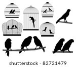 bird in a cage | Shutterstock .eps vector #82721479