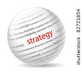 ball with inscription strategy  ... | Shutterstock .eps vector #82721854