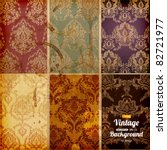 seamless wallpaper set for... | Shutterstock .eps vector #82721977
