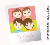 sweet family photo | Shutterstock .eps vector #82723351
