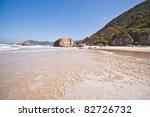 Quiet tropical beach - stock photo