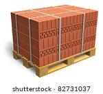 Stacked Bricks On Wooden...