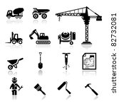 icons construction | Shutterstock .eps vector #82732081