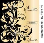 floral invitation card | Shutterstock .eps vector #82749574