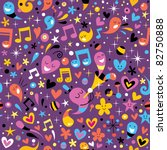 colorful party fun pattern - stock vector